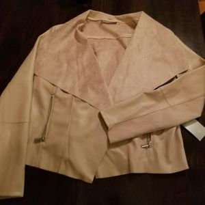 Bagatelle Rose Color Faux Leather Jacket XL
